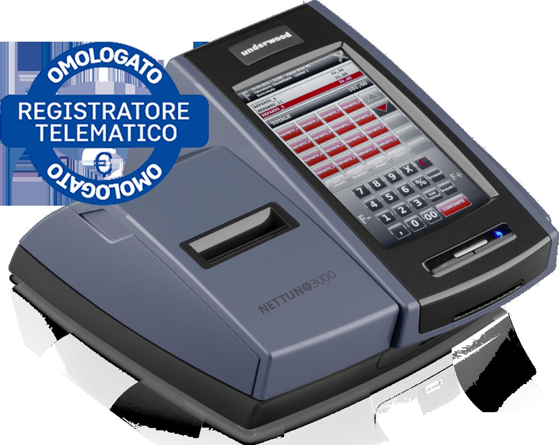 TassiUfficio - registratore di cassa omologato Olivetti-underwood-100-trasp-omologato NETTUNA3000